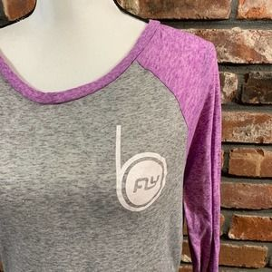 Flywheel Be Fly Raise the Barre Burnout Tee